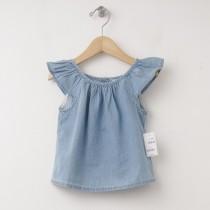 New babyGap Denim Flutter Top Shirt in Chambray