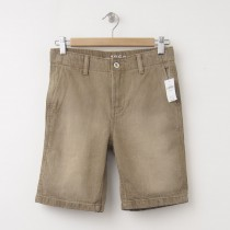 NEW GapKids Boys 1969 Flat Front Denim Shorts in Desert Wash