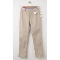 NEW GapKids Girl's GapShield Uniform Straight Khaki Pants in Wicker Beige