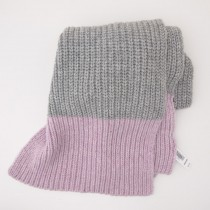 NEW Gap Women's Colorblock Ribbed Scarf in Heather Grey
