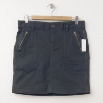 NEW Old Navy Twill Utility Surplus Skirt in Grey Charlie