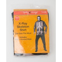 Spooky Village Halloween X-Ray Skeleton Shirt Adult L