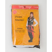 Spooky Village Halloween Pirate Maiden Costume Adult