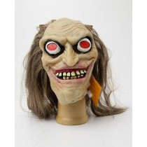 Spooky Village Fright Night Light-Up Mask for Adults - Brown Hair