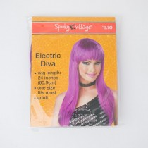 Spooky Village Electric Diva Adult Wig in Purple