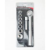 Sheffield 9 Piece Socket Set with Ratchet Handle 60014