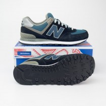 New Balance Men's 574 Classics Running Shoes M574JN in Navy