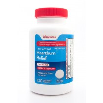 Walgreens Fast-Acting Heartburn Relief Chewable Extra Strength Original Flavor 100 Chewable Tablets