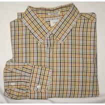 J Crew Tattersall Dress Shirt Men's Large - L - 16-16.5