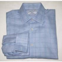 Charles Tyrwhitt Glenplaid Dress Shirt w/French Cuffs Men's 15.5-33