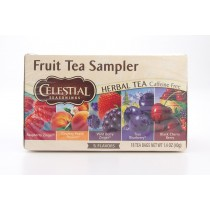 Celestial Seasonings Fruit Tea Sampler Herbal Tea Caffeine Free 18 Tea Bags (net wt 1.4 oz)