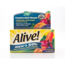 Nature's Way Alive! Complete Multi-Vitamin Men's 50+ 50 Tablets - EXP 6/21+