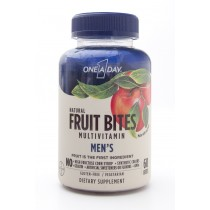 One-A-Day Natural Fruit Bites Mens' Multivitamin Dietary Supplement 60 Bites