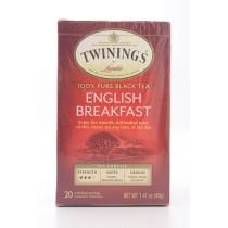 Twinings of London English Breakfast 100% Pure Black Tea 20 Tea Bags (net wt 1.41 oz)