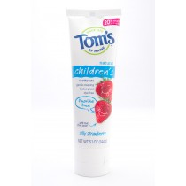 Tom's of Maine Natural Childrens Toothpaste Fluoride Free Silly Strawberry net wt 5.1 oz