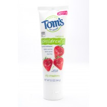 Tom's of Maine Natural Childrens Toothpaste with Fluoride Silly Strawberry net wt 5.1 oz