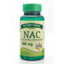 Nature's Truth NAC N-Acetyl Cysteine 600 mg Dietary Supplement 60 Capsules
