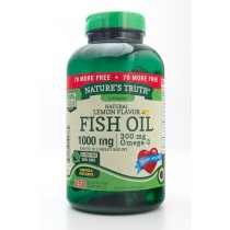 Nature's Truth Natural Lemon Flavor Fish Oil 1000 mg, 300 mg Omega-3 Dietary Supplement 250 Softgels