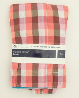 NEW Gap Classic Cotton Pfeiffer Check Boxers in Red