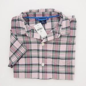 NEW GapKids Boy's Short Sleeve Plaid Shirt in Pink Plaid