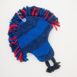 NEW babyGap Toddler Striped Mohawk Hat in Blue Lightning